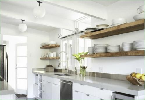 PIN LOVE 4 Mensole di legno per una cucina senza pensili  easyrelooking