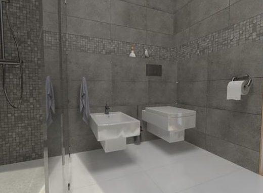 Ristrutturare un bagno lungo e stretto la soluzione della doccia passante  easyrelooking
