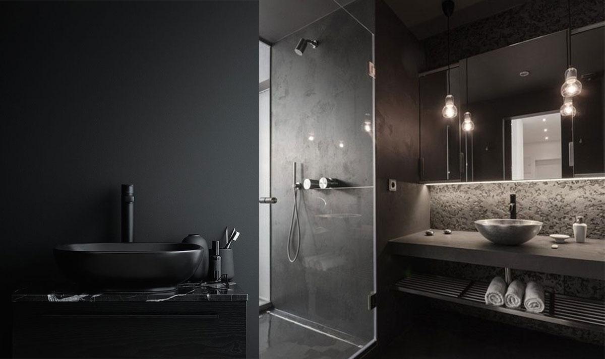 Ispirazioni e consigli per un bagno in nero  easyrelooking