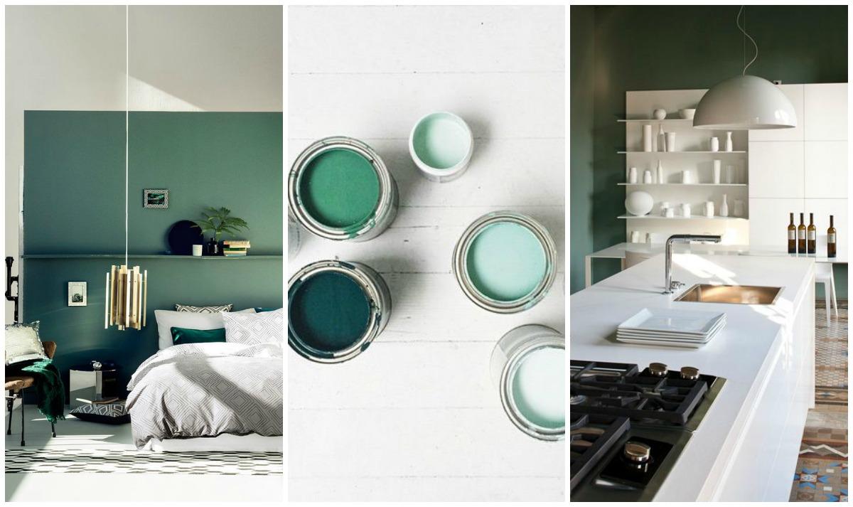Verde per le pareti di casa non passa di moda e Pantone