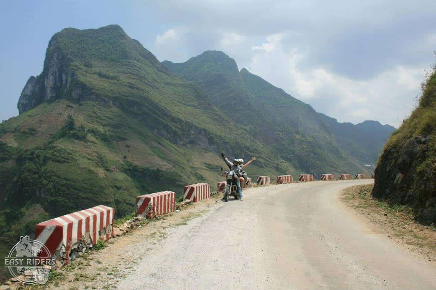 Riding the winding mountain passes
