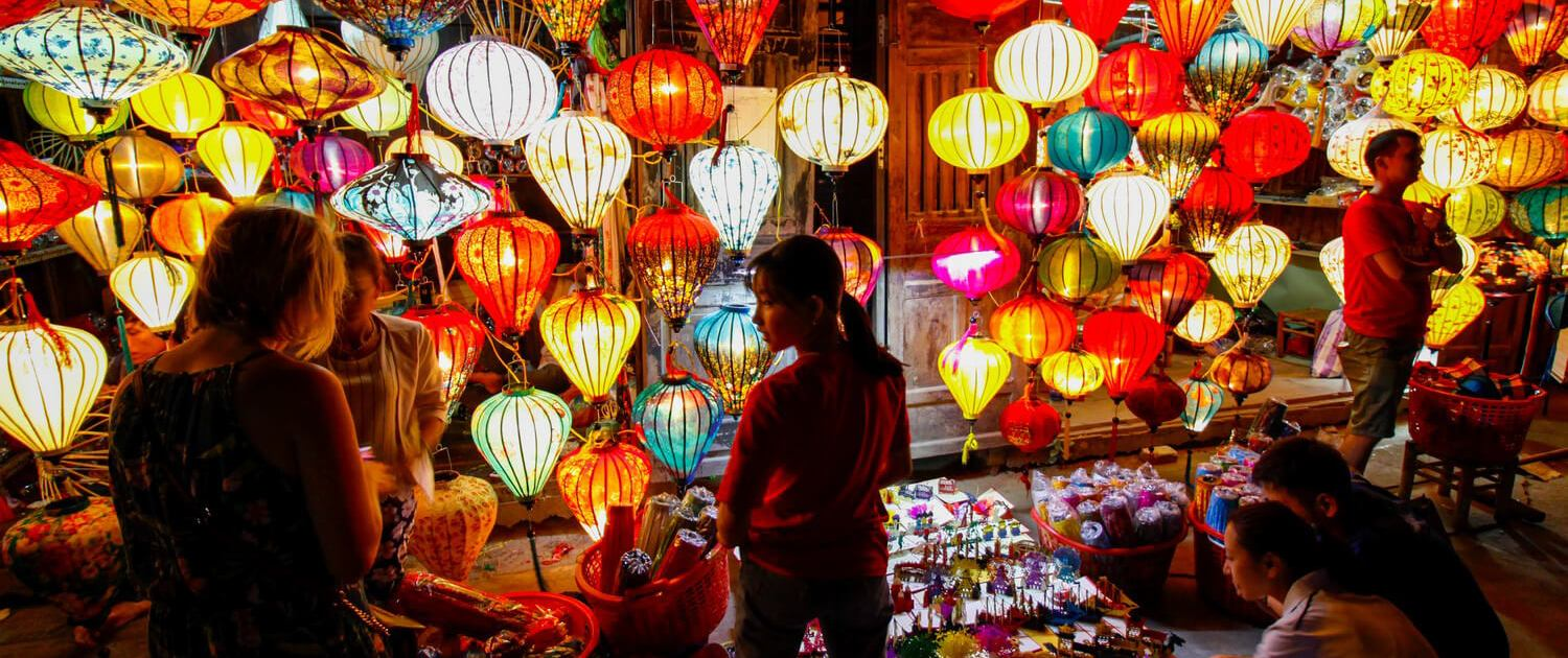 Visit the Night Market after riding with an Easy Rider Dalat to Hoi An Popular Destination