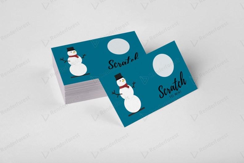 Snowman scratch off template