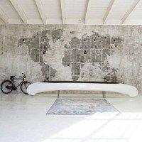 carta da parati con mappa geografica