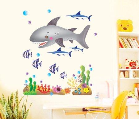 adesivi murali animali marini