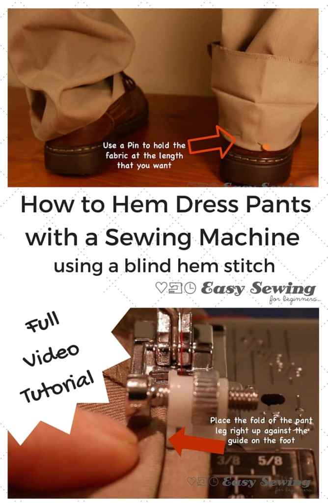 How To Hem Pants With A Sewing Machine Using The Blind