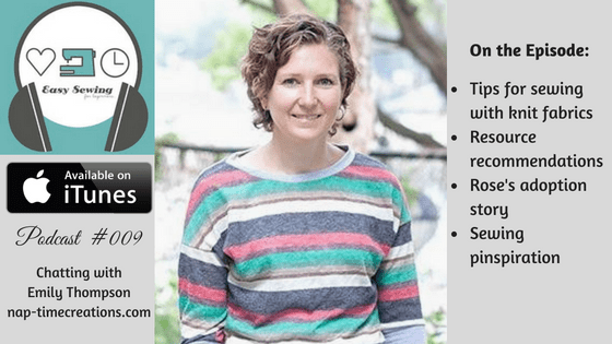 ESFB 009: Chatting with Emily Thompson – Tips for Sewing with Knits for Beginning Sewers