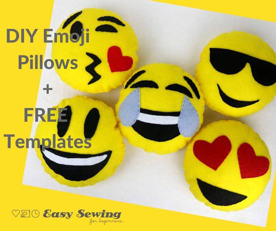 DIY Mini Emoji Pillow Tutorial + Free Templates