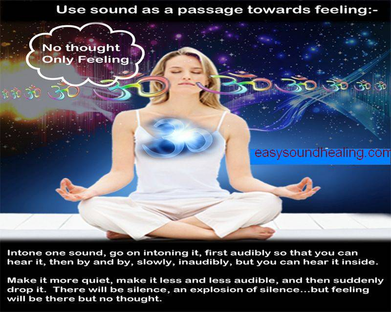 Use sound as a passage towards feeling