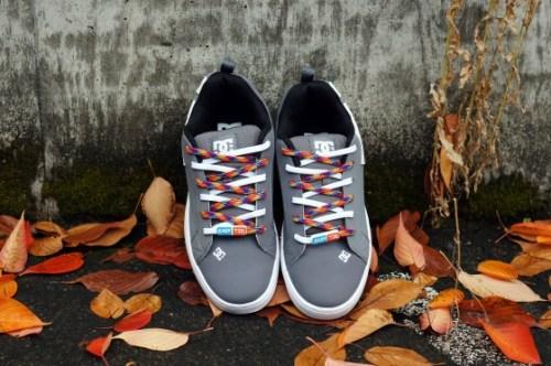 Rainbow & Whie Easy Tie Shoelaces