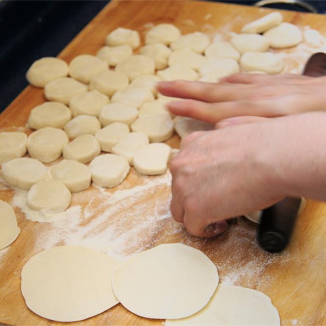 Make dumpling wrappers