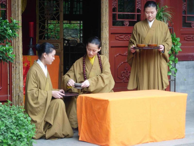 Drinking tea in Beijing China