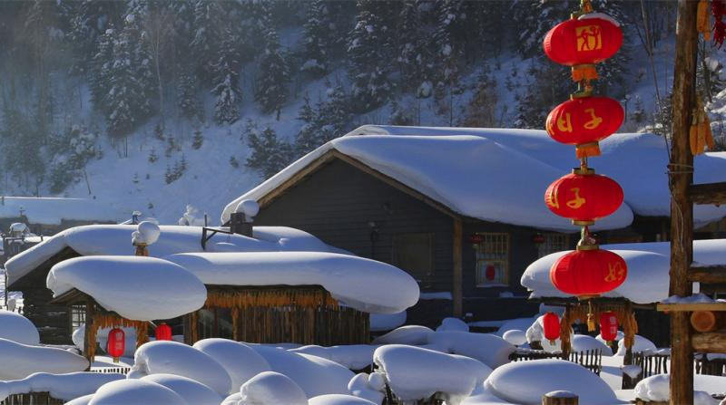 Snow fairyland in China