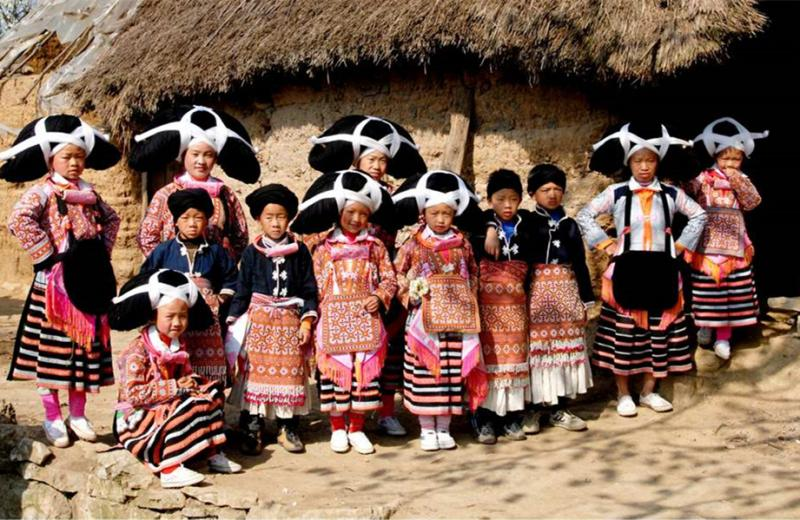 Miao peoole's traditional clothes