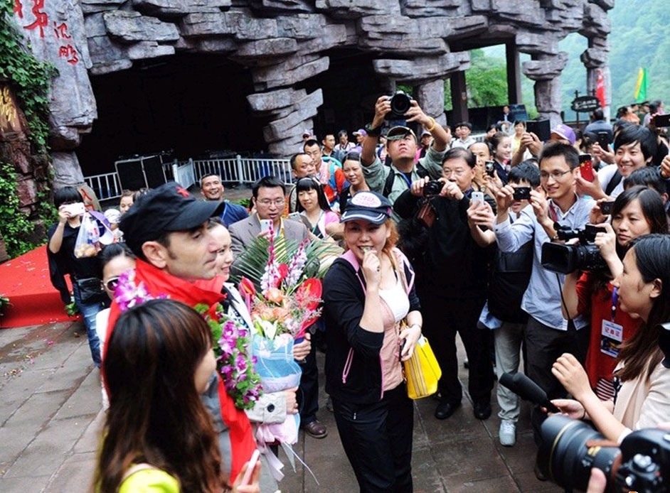 welcomed by tourists