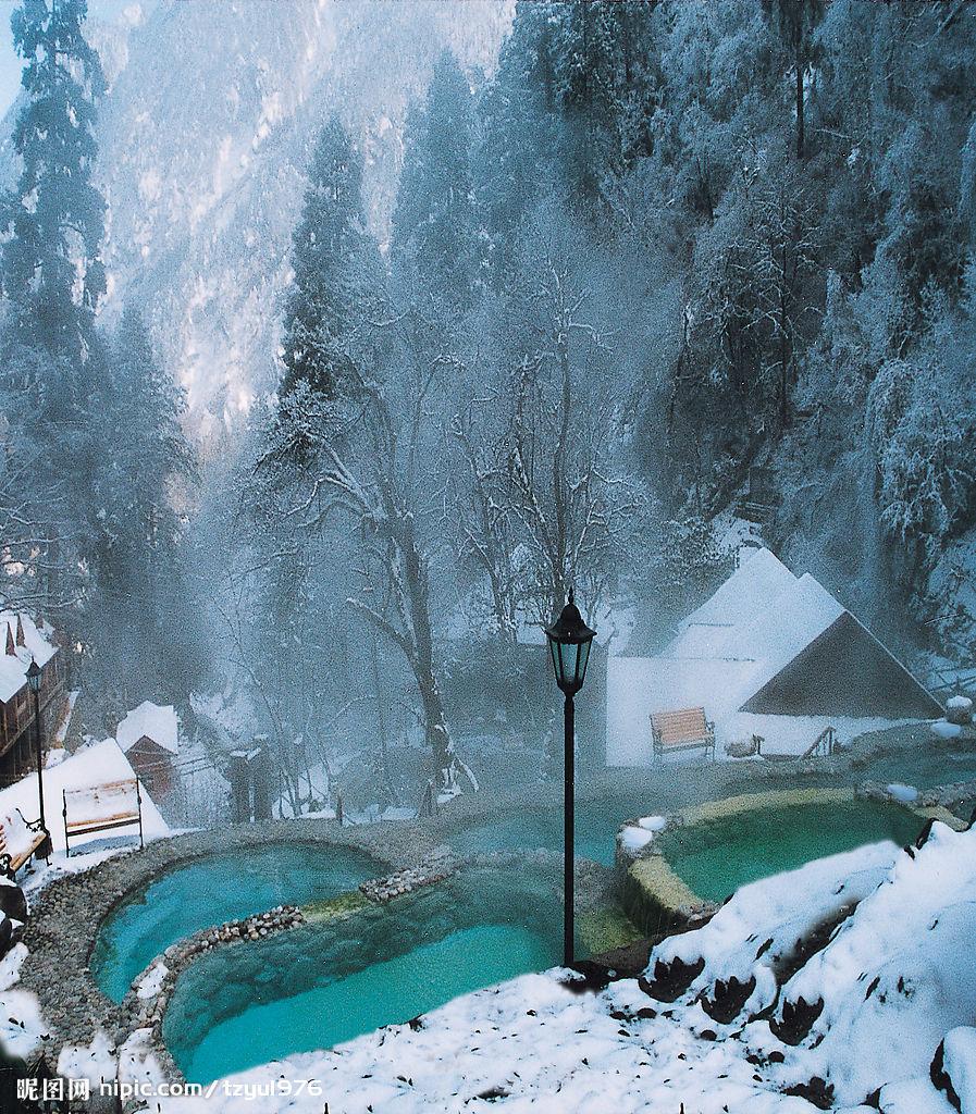 Hot Springs Chengdu Sichuan Attractions Travel Photos of Hailuogou Hailuogou Image Tours
