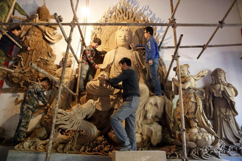 Buddha sculpture in China