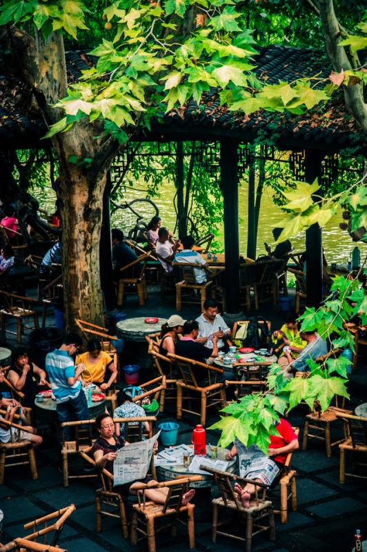 bamboo chairs purple lounge chair sichuan tea culture: teahouses in chengdu - easy tour china