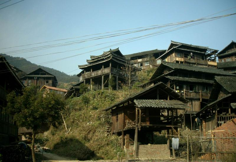 Stilted Building in China