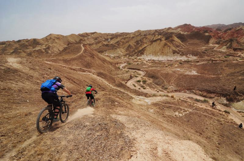 Cycling in Desert China