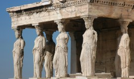 Athens Greece The Caryatides Acropolis