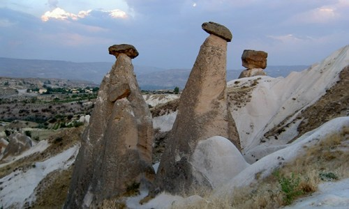 Capadocia Turquía Chimeneas Altas