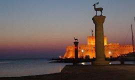 La isla de Rodas Grecia Amanecer