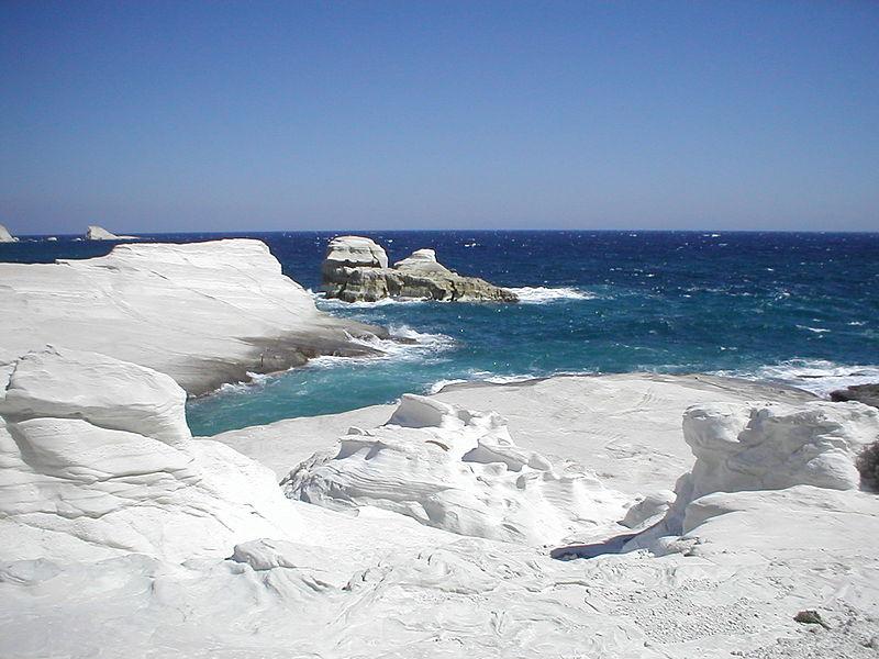 Milos_Island_Greece_Sarakiniko_Beach Athens Milos Santorini Mykonos