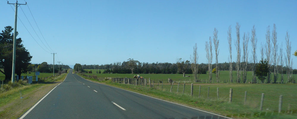 Driving from Devonport to Launceston