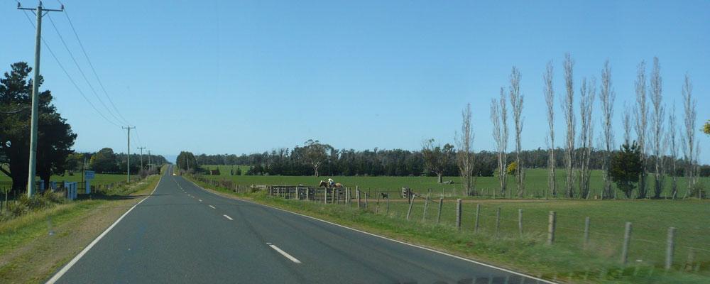 Driving from Devonport to Launceston