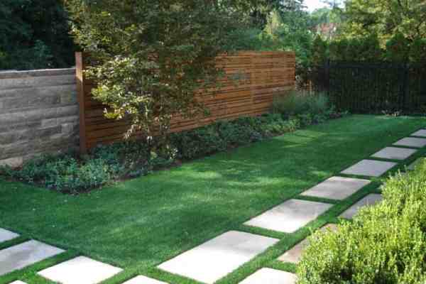 pavers with grass in design