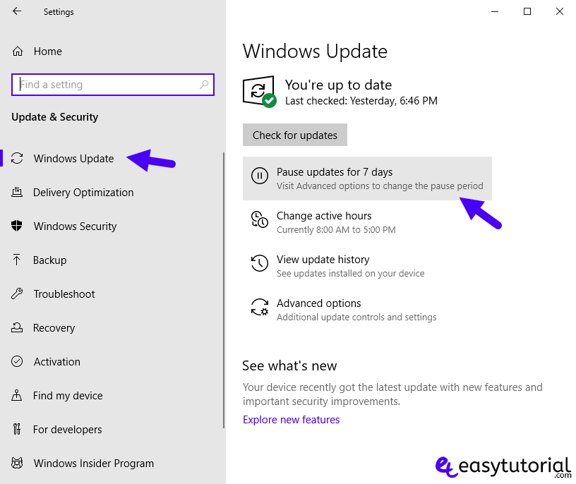 Disable Stop Turn Off Windows Update 10 Service 2 Pause