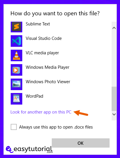 Fix There Was A Program Sending The Command To The Program 11 Look For Another App On This Pc