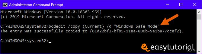Bcdedit Add Safe Mode Boot Windows 10 Boot Menu Startup Msconfig 2 Bcdedit