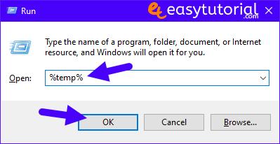 Clean C Drive Windows 10 Speed Up Pc Computer Fast Boost 5 Run Temp