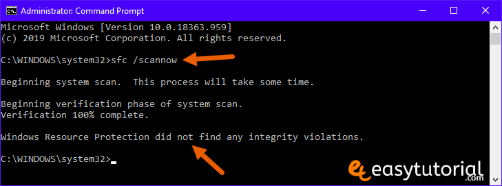 Fix Corrupt Windows 10 Files 2 Sfc Scannow Did Not Find Any Integrity Violations