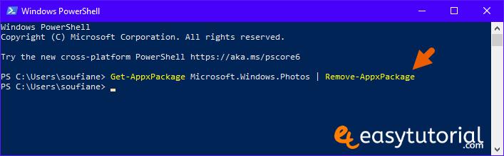 Fix Repair Microsoft Photos Windows 10 2 Powershell Photos Remove Package