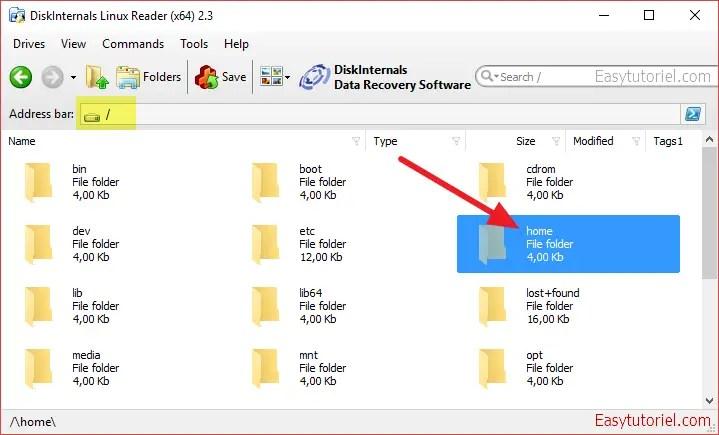 03 linux reader lire partition windows