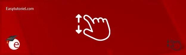 touchpad mouvement windows 3