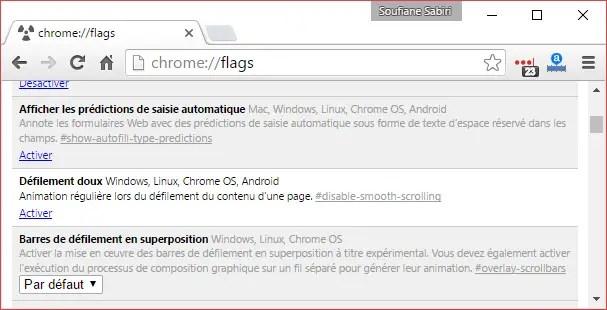 defilement doux google chrome