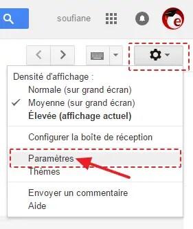 5 gmail parametres