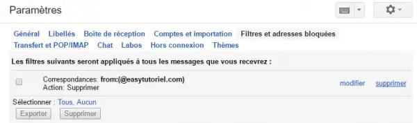 6 gmail parametres filtres adresses bloquees