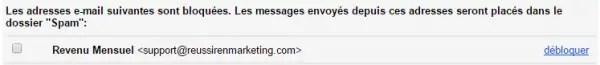 7 debloquer email