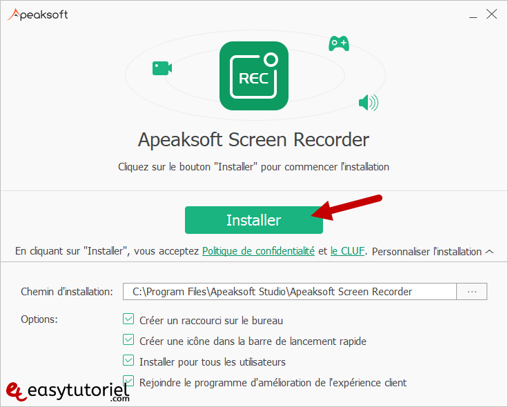 Apeaksoft Screen Recorder Capture Ecran Windows 10 Tutoriel 1