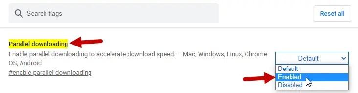 Accelerer Telechargement Google Chrome Windows 1 Parallel Downloading