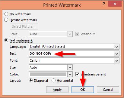 Insert custom watermarks into Word. Powerpoint and Excel 2016 files | EasyTweaks.com