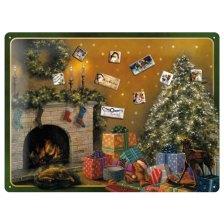 NOSTALGIC ΜΑΓΝΗΤΙΚΟΣ ΠΙΝΑΚΑΣ ΜΕ 9 ΜΑΓΝΗΤΑΚΙΑ 'CHRISTMAS TREE'