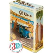 NOSTALGIC ΜΕΤΑΛΛΙΚΟ ΚΟΥΤΙ ΓΙΓΑΣ 3D VW BULLI, BEETLE - READY FOR THE SUMMER, READY FOR THE BEACH