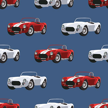 Enhance any room with floral wallpaper. Retro Blue White Car Wallpaper For Kids Room Decor