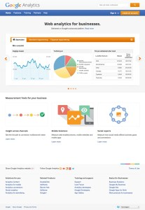 Google Analytics Sign in page